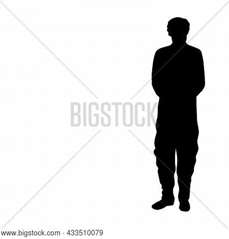 Silhouette Indian Man. Indian Culture And Tradition. Illustration Symbol Icon