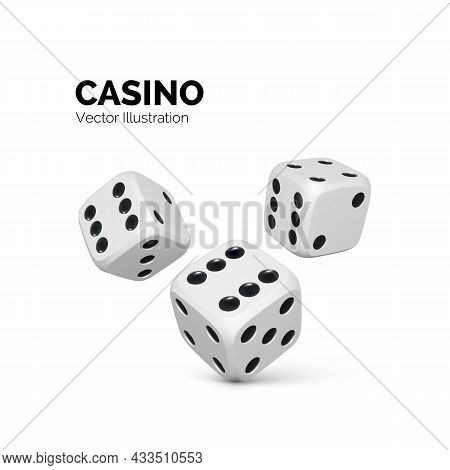 Dice. Casino And Betting Background. Vector Illustration Isolated On White