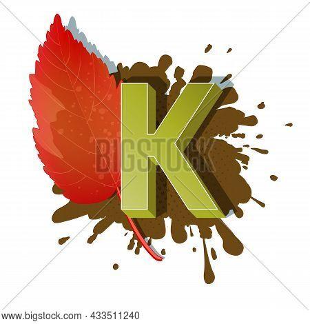 Autumn 3D Pop Art Alphabet - Colorful Bold Letter K
