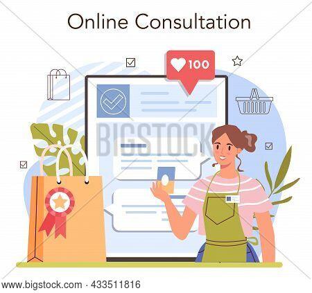 Product Presentation Online Service Or Platform. Entrepreneur Presenting