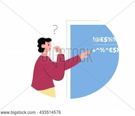 Person With Sensing Scientific Type Of Mind, Flat Vector Illustration Isolated.