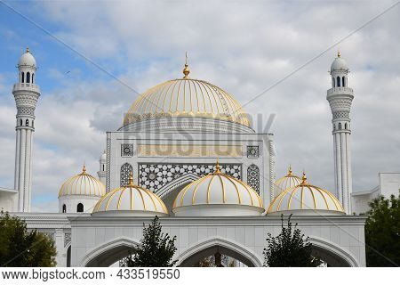 White Mosque In Shali, Chechnya, Russia