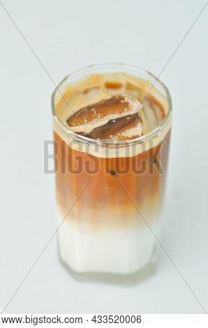 Coffee , Iced Coffee Or Iced Latte Coffee Or Iced Mocha In White Background