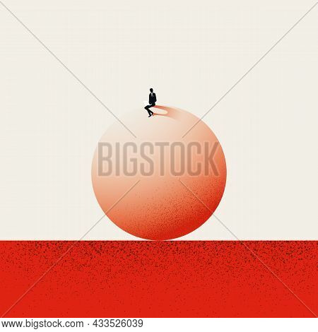 Business Concentration, Balance, Equilibrium Vector Concept. Symbol Of Hard Work, Professional. Mini