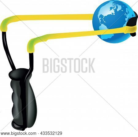 Slingshot With Elastic Spear Planet Earth Slingshot With Elastic Spear Planet Earth