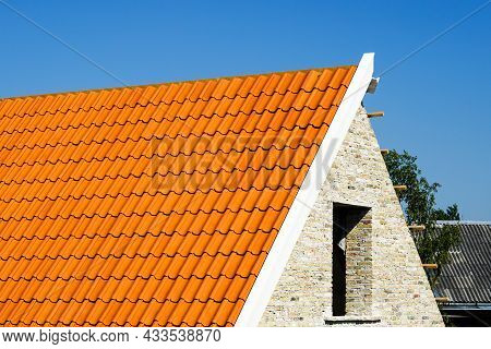 Restoration Of A Historic Brick House, Chimney Repair And Replacement Of Roof Clay Tiles