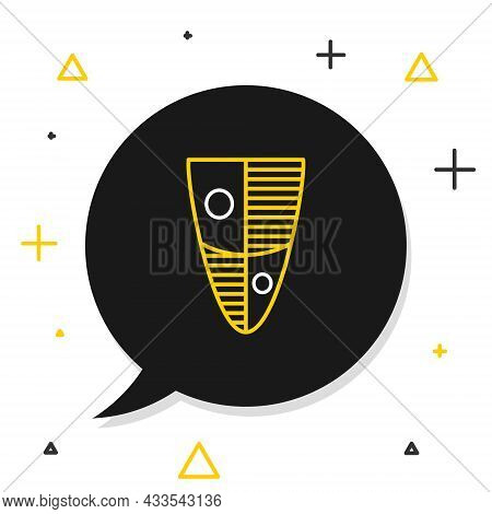 Line Shield Icon Isolated On White Background. Guard Sign. Security, Safety, Protection, Privacy Con