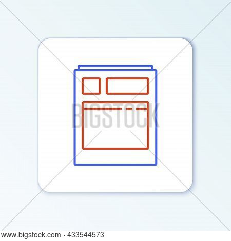 Line Kitchen Dishwasher Machine Icon Isolated On White Background. Colorful Outline Concept. Vector