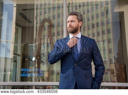 Mature Businessman In Formalwear. Business Success. Successful Man In Businesslike Suit.