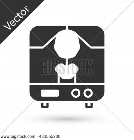 Grey X-ray Machine Icon Isolated On White Background. Vector Illustration