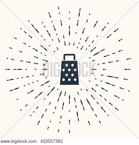 Grey Grater Icon Isolated On Beige Background. Kitchen Symbol. Cooking Utensil. Cutlery Sign. Abstra