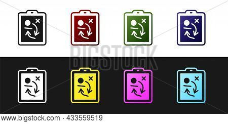 Set Planning Strategy Concept Icon Isolated On Black And White Background. Hockey Cup Formation And