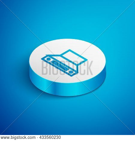 Isometric Line Kitchen Extractor Fan Icon Isolated On Blue Background. Cooker Hood. Kitchen Exhaust.