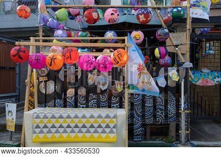 Tai O, Hong Kong 19 September 2021: Mid autumn festival in Tai O