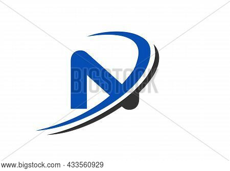N Letter Business Logo Template. Initial N Logo Design For Real Estate, Financial, Marketing, Manage