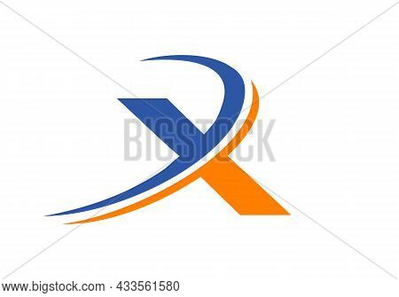 X Letter Business Logo Template. Initial X Logo Design For Real Estate, Financial, Marketing, Manage