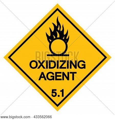 Oxidizing Agent Symbol Sign, Vector Illustration, Isolate On White Background, Label .eps10