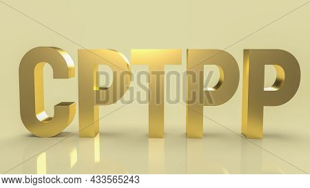 Cptpp Or Comprehensive And Progressive Agreement For Trans Pacific Partnership 3d Rendering For Back