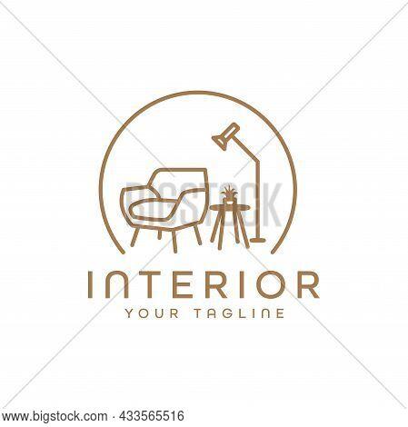 Minimalist Room Interior Logo Furniture Chairs And Tables. Interior Furniture Home Design Minimalist