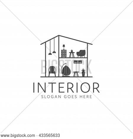 Home Interior Decoration Logo, Indoor Table And Chairs. Interior Furniture Home Design Minimalist Li