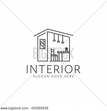 Interior Logo Design Interior Furniture Decoration Room. Interior Furniture Home Design Minimalist L