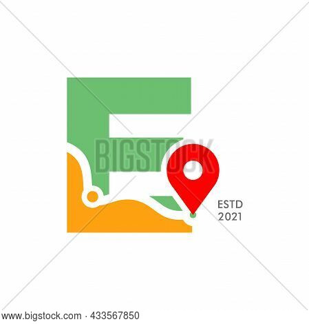 Simple And Modern Illustration Logo Design Initial E Pin Location.