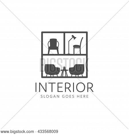 Room Interior Logo, Minimalist Table And Chair Furniture Gallery. Interior Furniture Home Design Min