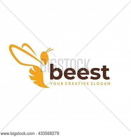 Bee Farm Logo. Bee Honey Logo Design Vector Inspiration