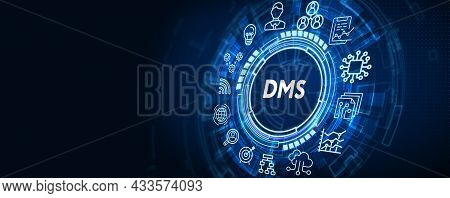 Document Management Dms System Digital Rights Management. Business, Technology, Internet And Network