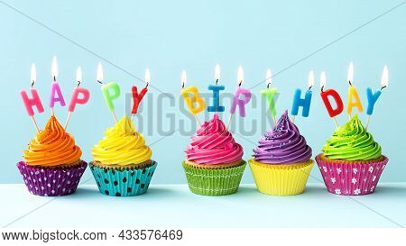 Tasty And Delicious Small Pastry Ready To Eat With Candles In Birthday Party Food Sweet Cake Small P