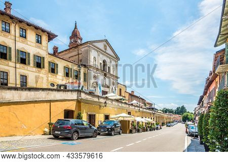 Bra, Italy - June 27,2021 - Church Holy Trinity In The Streets Of  Bra. Bra Is A Town And Comune In