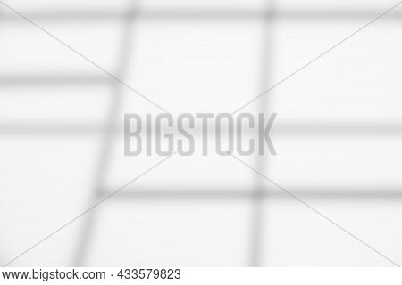 Natural Light And Shadow From Window Overlay Effect On White   Background. Silhouette Light Abstract