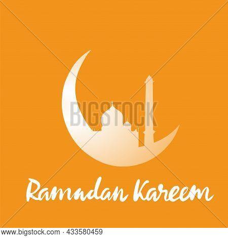 Vector Illustration. Islamic Ramadan Kareem Welcomes. For Ramadan Kareem Greeting Cards, Banners, Po