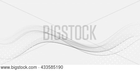 Abstract Modern Transparent Gray Certificate Design With Swoosh Speed Lines. Vector Illustration Eps