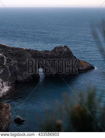 Beautiful View Of Grotto At The Sea