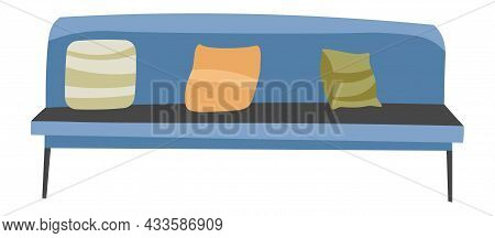 Comfortable Couch With Pillows, Sofa And Cushions