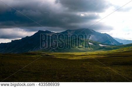 Photography Of The Mountain Oshten. Dramatic Sky