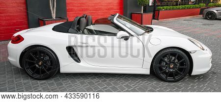 Ukraine, Odessa September 8 - 2021: Porsche 718 Boxter Cabriolet On The Parking, Luxury Sports Cabri