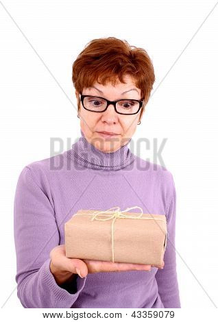 Attractive Mature Woman With Surprise