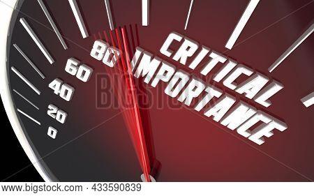 Critical Importance Measurement Top Priority Important Objective Metric 3d Illustration