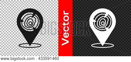 Black Wooden Logs Icon Isolated On Transparent Background. Stack Of Firewood. Vector