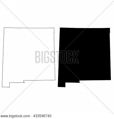 New Mexico Map On White Background. New Mexico State Map Sign. Outline Map Of New Mexico. Flat Style
