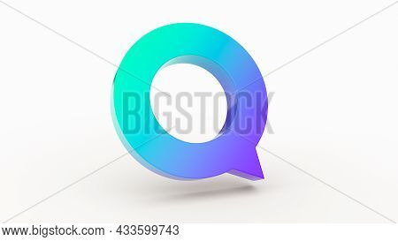 Speak Bubble Text, Chatting Box, Message Box Outline 3d Minimal Purple And Green Teal Chat Bubbles O