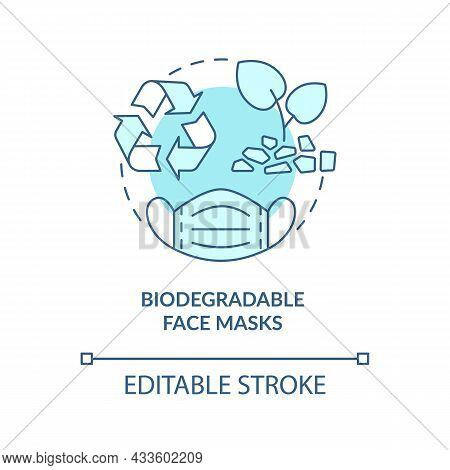 Biodegradable Medical Masks Concept Icon. Environmentally Friendly Disposable Face Masks Abstract Id