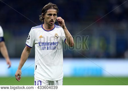 Milano, Italy. 15 September 2021. Luka Modric Of Real Madrid Cf  Looks On During The  Uefa Champions