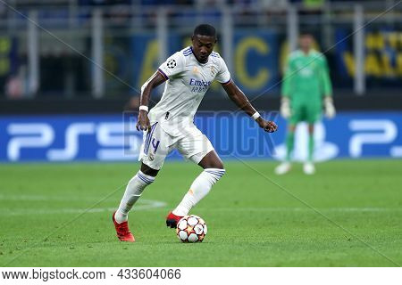 Milano, Italy. 15 September 2021. David Alaba Of Real Madrid Cf  In Action During The  Uefa Champion