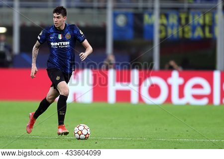 Milano, Italy. 15 September 2021. Alessandro Bastoni Of Fc Internazionale  In Action During The  Uef