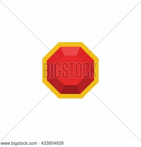 Ruby Isolated On A White Background. Vector Illustration.