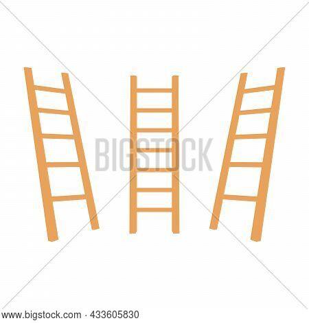 Folding Ladder On White Background. Folding Ladder Vector.