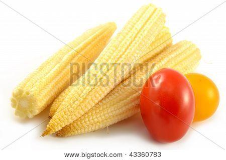 Mini Corn And Cherry Tomatoes
